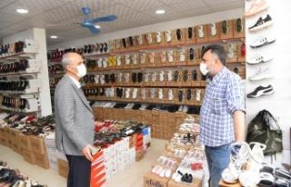 Başkan Okay'dan Vezir Hoca Bulvarı esnafına ziyaret