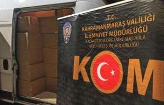 Kahramanmaraş'ta 1 milyon 820 kaçak makaron ele...