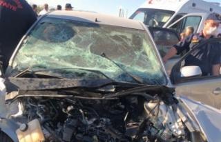 Kahramanmaraş'ta trafik kazası: 1 ölü 2 yaralı