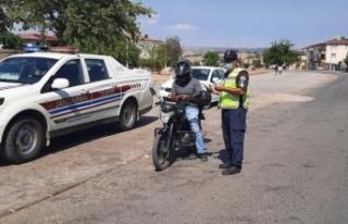 Kahramanmaraş'ta motosiklet sürücülerine eş...