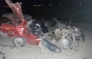 Kahramanmaraş'ta otomobil traktöre arkadan çarptı:...