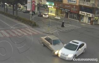 Kahramanmaraş'ta trafik kazaları kamerada