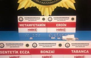 Kahramanmaraş'ta uyuşturucuya 3 tutuklama