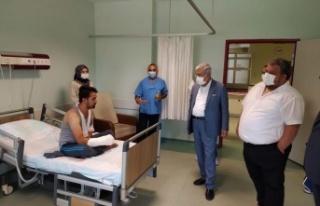 RektörCan, Tıp Fakültesi Hastanesine Bayram Ziyareti...