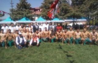 Kahramanmaraş'ta yağlı güreş festivali