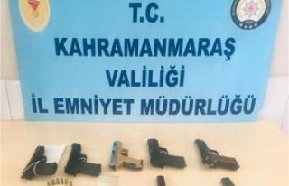 Kahramanmaraş'ta 19 silah ele geçirildi