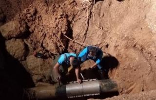 Kahramanmaraş'ta içme suyu şebekesi patladı...