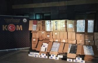 Kahramanmaraş'ta Polis 30 bin kaçak sigara ele geçirdi
