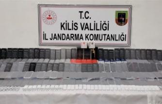 Kilis'te kaçak telefon operasyonu