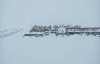 Yedi Kuyular Kayak Merkezi'nde kar kalınlığı 95 santimetreye ulaştı