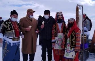 Türkiye'nin buz şehrinde dondurma şov