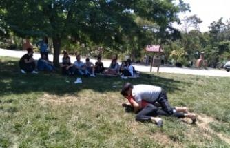 Teknokent Koleji öğrencileri stres attı