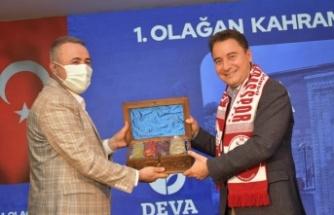 """Babacan, """"Biz Kahramanmaraş'a deva olmaya Türkiye'ye deva olmaya hazırız"""""""