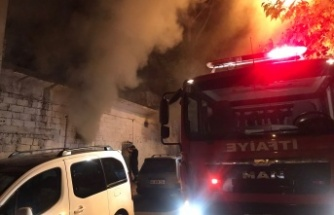 Kahramanmaraş'ta Tarihi Kuyucak Hamamı'nda yangın