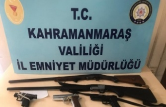 Kahramanmaraş'ta 13 kişi silahlarıyla birlikte yakalandı