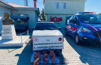 Kahramanmaraş'ta bakır kablo hırsızları yakalandı