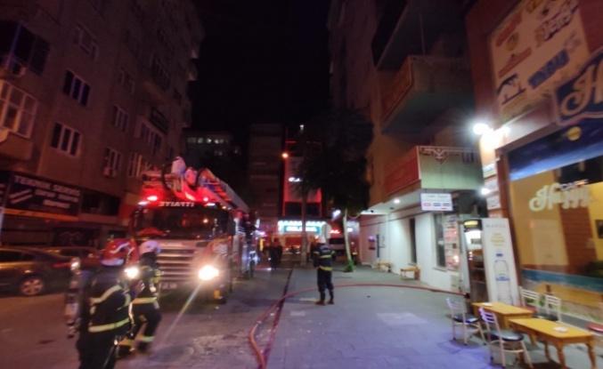 Kahramanmaraş'ta çatı yangını